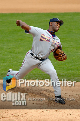 10 September 2006: Felix Rodriguez, pitcher for the Washington Nationals, on the mound against the Colorado Rockies. The Rockies defeated the Nationals 13-9 at Coors Field in Denver, Colorado...Mandatory Photo Credit: Ed Wolfstein.