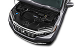 Car stock 2019 Honda Ridgeline RTL-T 4 Door Pick Up engine high angle detail view