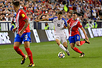 Harrison, NJ - Friday Sept. 01, 2017: Christian Pulisic, Bryan Oviedo during a 2017 FIFA World Cup Qualifier between the United States (USA) and Costa Rica (CRC) at Red Bull Arena.