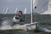 Medemblik - the Netherlands, May 28th 2010. Delta Lloyd Regatta in Medemblik (26/30 May 2010). Day 3. Laser.