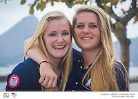 49er FX USA from left: Paris Henken USAPH79 Helena Scutt USAHS38<br /> <br /> 2016 Olympic Games <br /> Rio de Janeiro