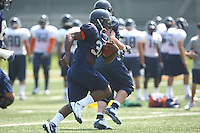 Virginia FB Rashawn Jackson during open spring practice for the Virginia Cavaliers football team August 7, 2009 at the University of Virginia in Charlottesville, VA. Photo/Andrew Shurtleff