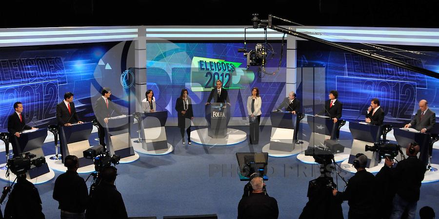 OSASCO, SP, 03 SETEMBRO DE 2012 – DEBATE REDETV – ATENÇÃO EDITOR: FOTO EMBARGADA PARA VEÍCULOS INTERNACIONAIS: Candidatos a prefeitura de São Paulo durante debate realizado na noite desta segunda feira (03) pela RedeTV, na sede da emissora em Osasco. (FOTO: LEVI BIANCO / BRAZIL PHOTO PRESS).