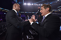 """BROOKLYN, NY - DECEMBER 22:  Sports commentators Lennox Lewisvand Joe Goossen attend the Fox Sports and Premier Boxing Champions  December 22 """"PBC on Fox"""" Fight Night at the Barclays Center on December 22, 2018 in Brooklyn, New York. (Photo by Anthony Behar/Fox Sports/PictureGroup)"""