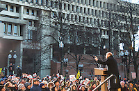 Representative Jim McGovern at Save Affordable Care Act rally with MA Congressional delegation at Faneuil Hall Boston MA 1.15.17