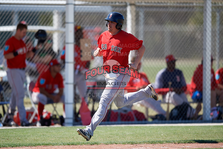 Boston Red Sox Zach Sterry (43) during a Minor League Spring Training game against the Baltimore Orioles on March 17, 2018 at the jetBlue Park Complex in Fort Myers, Florida.  (Mike Janes/Four Seam Images)