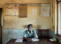 Constable 11431, John Ndalira in Kakira Police Station.<br />He earns 205,000 Shillings (USD 72) a month.
