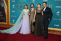 "HOLLYWOOD, CA - FEBRUARY 13: Sophie Skelton, Richard Rankin, Caitriona Balfe, Sam Heughan, at the Premiere Of Starz's ""Outlander"" Season 5 at HHollywood Palladium in Hollywood California on February 13, 2020. Credit: Faye Sadou/MediaPunch"