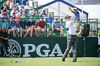 Chris Stroud (USA) watches his tee shot on 10 during Sunday's final round of the PGA Championship at the Quail Hollow Club in Charlotte, North Carolina. 8/13/2017.<br /> Picture: Golffile | Ken Murray<br /> <br /> All photo usage must carry mandatory copyright credit (&copy; Golffile | Ken Murray)
