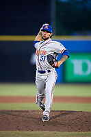 St. Lucie Mets relief pitcher Joshua Torres (51) delivers a pitch during a game against the Dunedin Blue Jays on April 19, 2017 at Florida Auto Exchange Stadium in Dunedin, Florida.  Dunedin defeated St. Lucie 9-1.  (Mike Janes/Four Seam Images)