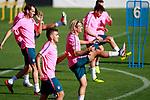 Atletico de Madrid's Diego Godin, Angel Correa, Antoine Griezmann and Nico Gaitan during training session. September 26,2017.(ALTERPHOTOS/Acero)