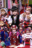 Romanian artwork dolls in costumes Sibiv Romania