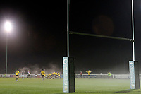 Mist descends as the game nears its end during the Championship Cup match between London Scottish Football Club and Yorkshire Carnegie at Richmond Athletic Ground, Richmond, United Kingdom on 4 October 2019. Photo by Carlton Myrie / PRiME Media Images