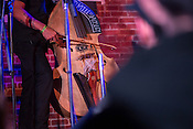 """Durham, North Carolina - Friday May 6, 2016 - Bassist Miles Mobley plays """"Abraham"""" during the performance by Kamasi Washington during the Art of Cool Festival Friday night at The Armory in Durham."""