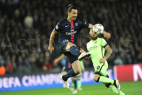 06.04.2016. Paris, France. UEFA CHampions League, quarter-final. Paris St Germain versus Manchester City.  ZLATAN IBRAHIMOVIC (psg)