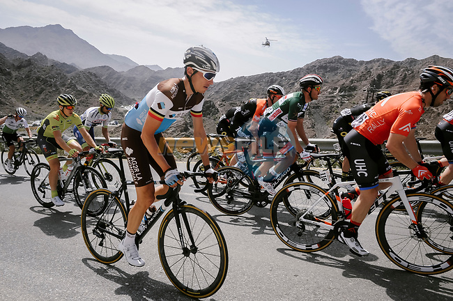 Oliver Naesen (BEL) AG2R La Mondiale during Stage 5 of the 10th Tour of Oman 2019, running 152km from Samayil to Jabal Al Akhdhar (Green Mountain), Oman. 20th February 2019.<br /> Picture: ASO/P. Ballet | Cyclefile<br /> All photos usage must carry mandatory copyright credit (© Cyclefile | ASO/P. Ballet)