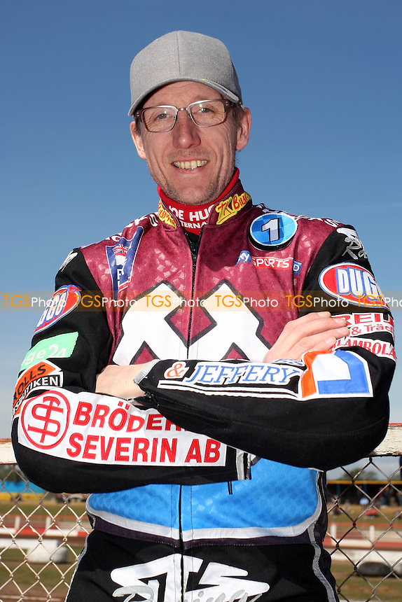 Peter Karlsson of Lakeside Hammers - Lakeside Hammers vs Eastbourne Eagles - Sky Sports Elite League Speedway at Arena Essex Raceway, Purfleet - 06/04/12 - MANDATORY CREDIT: Gavin Ellis/TGSPHOTO - Self billing applies where appropriate - 0845 094 6026 - contact@tgsphoto.co.uk - NO UNPAID USE.