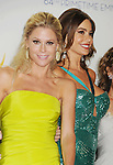LOS ANGELES, CA - SEPTEMBER 23: Julie Bowen, Sofía Vergara and Sarah Hyland pose in the press room at the 64th Primetime Emmy Awards held at Nokia Theatre L.A. Live on September 23, 2012 in Los Angeles, California.