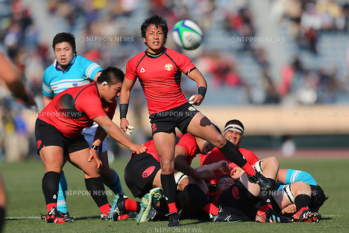 Yutaka Nagare (Teikyo), .January 13, 2013 - Rugby: .The 49th All Japan University Rugby Championship Final .match between Teikyo University 39-22 Tsukuba University .at National Stadium, Tokyo, Japan. .(Photo by Daiju Kitamura/AFLO SPORT) [1045]