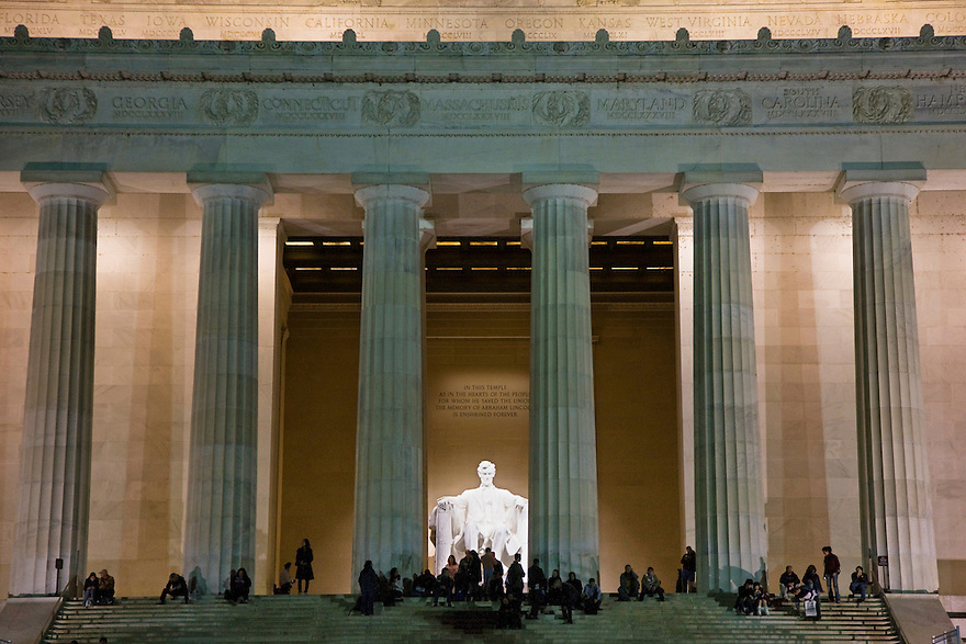 The Lincoln Memorial is a United States Presidential memorial built to honor the 16th President of the United States, Abraham Lincoln. It is located on the National Mall in Washington, D.C. ...Photo by Brooks Kraft/Corbis.....................
