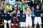 DALLAS, TX - MARCH 31: Katie Lou Samuelson #33 of the Connecticut Huskies attempts a three-point shot during the 2017 Women's Final Four at American Airlines Center on March 31, 2017 in Dallas, Texas. (Photo by Tim Nwachukwu/NCAA Photos via Getty Images)