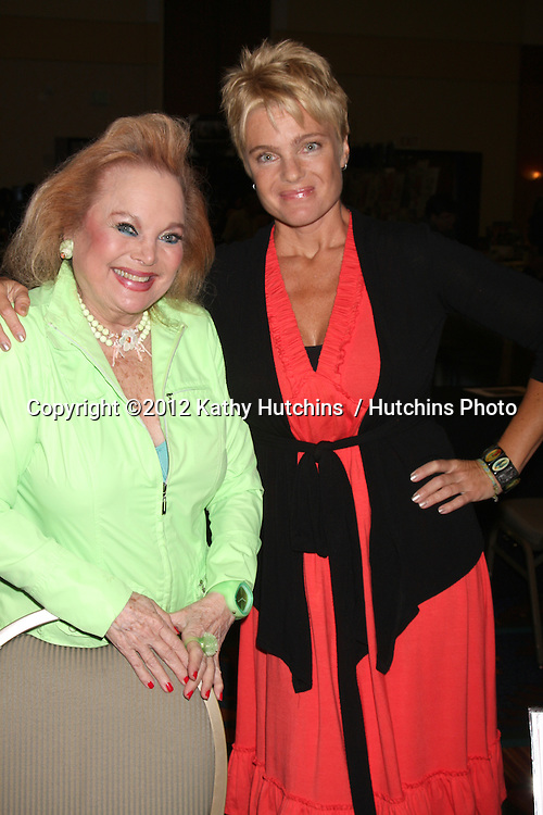 "LOS ANGELES - AUG 4:  Carol Connors, Erika Eleniak appearing at the ""Hollywood Show"" at Burbank Marriott Convention Center on August 4, 2012 in Burbank, CA"