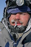 Tuesday March 6, 2007   Robert Sorlie at the Nikolai checkpoint on Tuesday