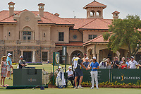 Tommy Fleetwood (ENG) shakes hands with his caddie Ian Finnis before round 3 of The Players Championship, TPC Sawgrass, at Ponte Vedra, Florida, USA. 5/12/2018.<br /> Picture: Golffile | Ken Murray<br /> <br /> <br /> All photo usage must carry mandatory copyright credit (&copy; Golffile | Ken Murray)