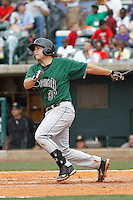 Augusta GreenJackets catcher John Riley (38) at the plate during a game against the Charleston Riverdogs at Joseph P.Riley Jr. Ballpark on April 15, 2015 in Charleston, South Carolina. Charleston defeated Augusta 8-0. (Robert Gurganus/Four Seam Images)