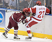 Nathan Gerbe, Ross Carlson - The University of Wisconsin Badgers defeated the Boston College Eagles 2-1 on Saturday, April 8, 2006, at the Bradley Center in Milwaukee, Wisconsin in the 2006 Frozen Four Final to take the national Title.
