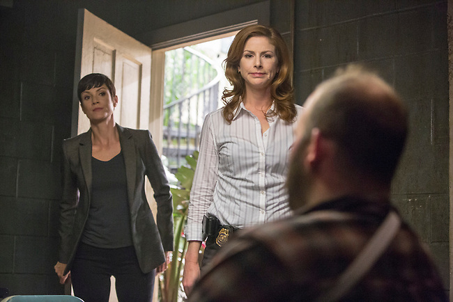 "Zoe McLellan as Special Agent Meredith Brody and Diane Neal as CGIS Agent Abigail Borin in CBS's ""NCIS: New Orleans"" Season 1"