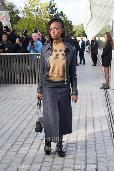 Kelela attend Louis Vuitton Show Front Row - Paris Fashion Week  2016.<br /> October 7, 2015 Paris, France<br /> Picture: Kristina Afanasyeva / Featureflash