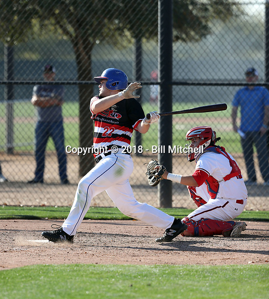 Tanner O'Tremba plays in the 2018 Perfect Game MLK Upperclass Championship West on January 12-15, 2018 at Camelback Ranch in Glendale, Arizona (Bill Mitchell)