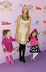 """BURBANK, CA - NOVEMBER 10: Brooke Anderson and daughter arrive at the Disney Channel's Premiere Party For """"Sofia The First: Once Upon A Princess"""" at the Walt Disney Studios on November 10, 2012 in Burbank, California."""