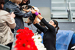 French Caroline Garcia with her dog during Doubles Woman Final Mutua Madrid Open Tennis 2016 in Madrid, May 07, 2016. (ALTERPHOTOS/BorjaB.Hojas)