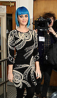 19th March 2012. Singer Katy Perry at the Maida Vale Studios, London for Radio One's Live Lounge.PAP0312KG67..PAP0312KG67... /NortePhoto