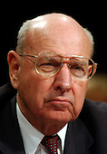 Washington, D.C. - March 23, 2004 -- Former United States Deputy Secretary of State Thomas Pickering testifies at the hearing of the National Commission on Terrorist Attacks Upon the United States (9/11 Commission) in Washington, DC on March 23, 2004.<br /> Credit: Ron Sachs / CNP<br /> [RESTRICTION: No New York Metro or other Newspapers within a 75 mile radius of New York City]