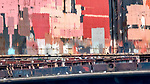 Hamburg, Germany, harbor abstract