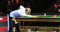 Barry Hawkins in action during the Dafabet Masters Quarter Final 1 match between Mark Allen and Barry Hawkins at Alexandra Palace, London, England on 14 January 2016. Photo by Liam Smith / PRiME Media Images