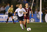 1 December 2006: Notre Dame's Ashley Jones (12) is chased by Florida State's Katrin Schmidt (GER) (7). The University of Notre Dame Fighting Irish defeated Florida State Seminoles 2-1 at SAS Stadium in Cary, North Carolina in an NCAA Division I Women's College Cup semifinal game.