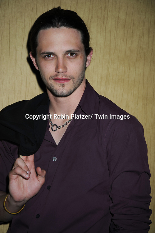 Nathan Parsons  posing at  the after party at the  Daytime Emmy Awards on June 27, 2010 at the Hilton at Las Vegas in Nevada.