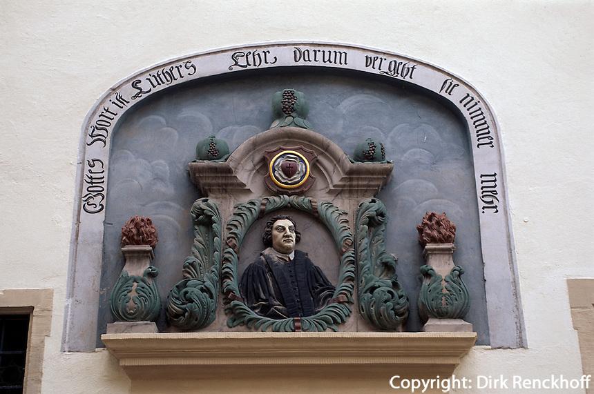 Deutschland, Sachsen-Anhalt, Geburtshaus von Luther in Eisleben, Unesco-Weltkulturerbe