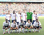 06 July 2007: USA's starting eleven.  Front row (l to r): Oforie Sarkodie, Sal Zizzo, Freddy Adu, Tony Beltran, Anthony Wallace.  Back row (l to r): Robbie Rodgers, Josmer Altidore, Danny Szetela, Michael Bradley, Chris Seitz, Nathan Sturgis. The Under-20 Men's National Team of the United States defeated Brazil's Under-20 Men's National Team 2-1 in a Group D opening round match at Frank Clair Stadium in Ottawa, Ontario, Canada during the FIFA U-20 World Cup Canada 2007 tournament.