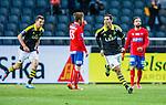 Solna 2014-05-05 Fotboll Allsvenskan AIK - Helsingborgs IF :  <br /> AIK:s Celso Borges jublar efter att ha gjort 1-0 i den f&ouml;rsta halvleken<br /> (Foto: Kenta J&ouml;nsson) Nyckelord:  Friends Arena AIK Gnaget HeIF HIF Helsingborg jubel gl&auml;dje lycka glad happy