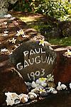 Atunoa cemetery. grave of Gauguin. Island of Hiva Oa <br /> Cimetiere d Atunoa. tombe de Gauguin. Ile  d'Hiva Oa