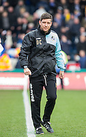 Darrell Clarke manager of Bristol Rovers during the Sky Bet League 2 match between Wycombe Wanderers and Bristol Rovers at Adams Park, High Wycombe, England on 27 February 2016. Photo by Andy Rowland