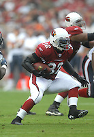 Aug 18, 2007; Glendale, AZ, USA; Arizona Cardinals running back Edgerrin James (32) rushes the ball in the first half against the Houston Texans at University of Phoenix Stadium. Mandatory Credit: Mark J. Rebilas-US PRESSWIRE Copyright © 2007 Mark J. Rebilas