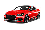 2018 Audi RS5 4WD 2 Door Coupe angular front stock photos of front three quarter view