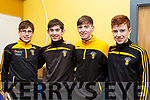 Participating in the Kerry Scor Na nOg in Austin Stack Park on Thursday evening last are, representing Abbeydorney are l-r, Jack Parker, Shane Donovan, Shane Conway and Keith O'Connor.