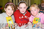 Quickest on the draw: Megan Kelly, An Gaeltacht, Aishling Coffey, Fossa and .Shauna Laine, Brosna taking part in the Under 14s Community Games Art County .Finals at the Presentation Convent on Saturday afternoon..   Copyright Kerry's Eye 2008